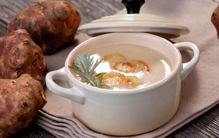 Freshly made Artichoke Soup.