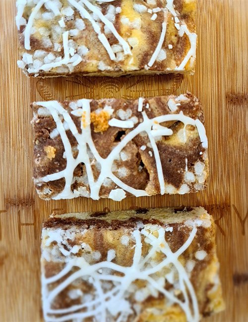 Cinnamon Swirl Slice.