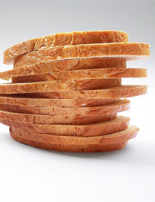 Medium sliced bread.