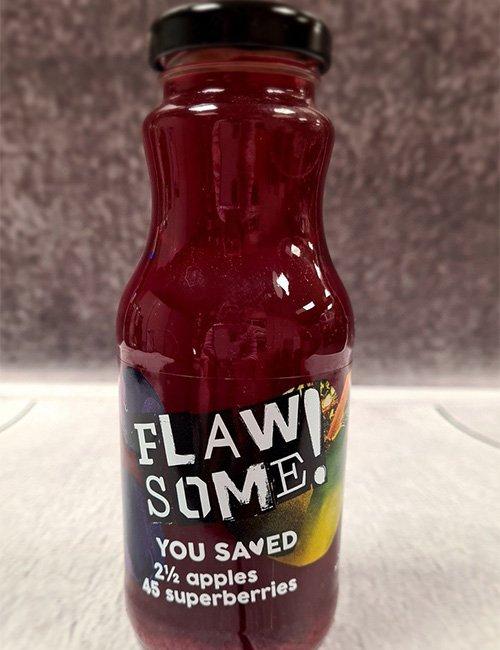 Flawsome Apple & Superberries 250ml Bottle.