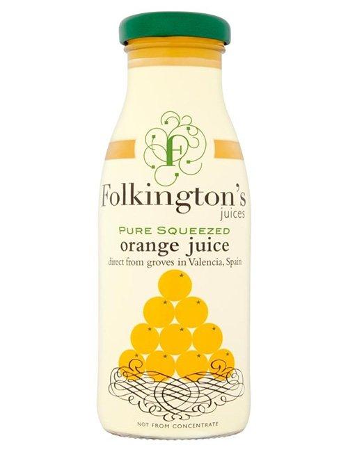 Folkingtons Orange Juice.