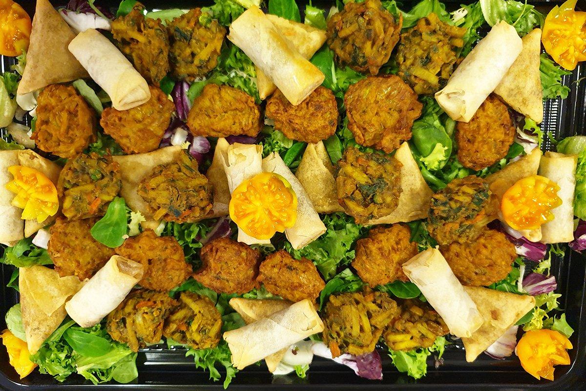 Indian buffet platter.