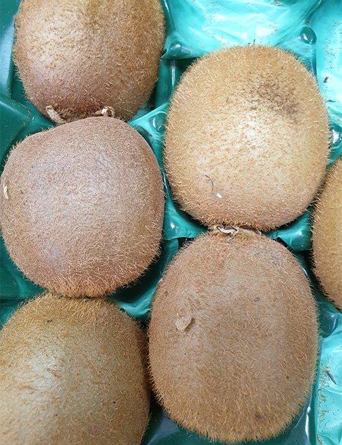 Kiwi fruits.