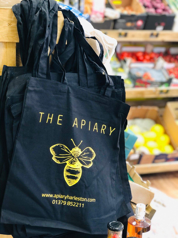 Apiary Tote Bags.