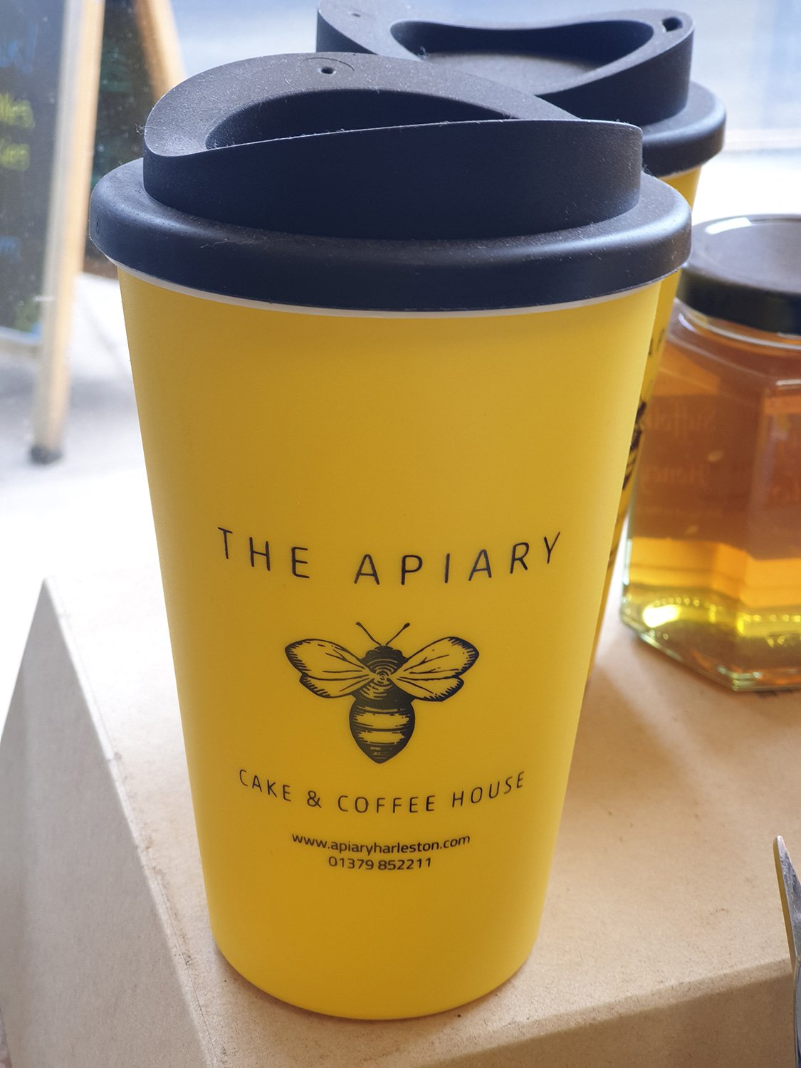 Apiary refillable cup.