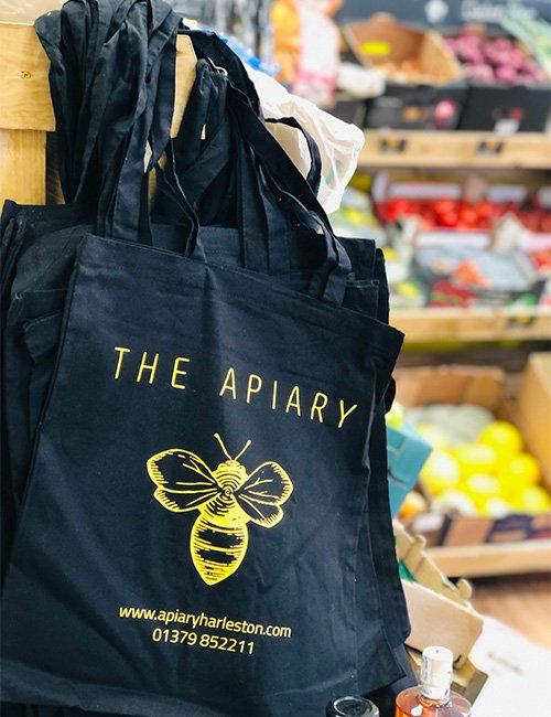 Apiary Tote bag.